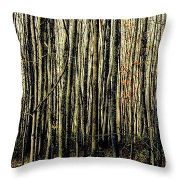 Treez Yellow Throw Pillow