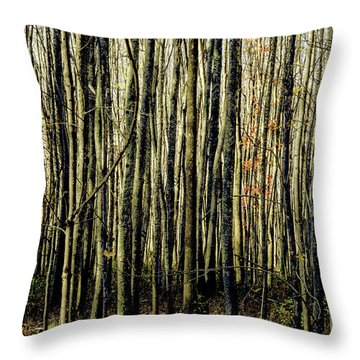 Treez Yellow Throw Pillow
