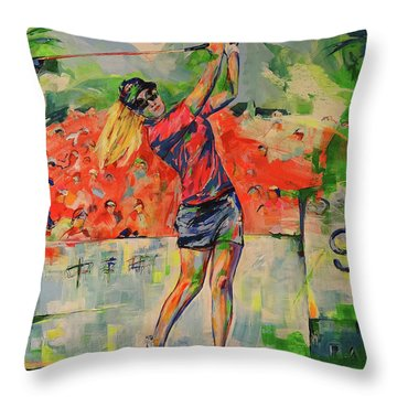 Treibschlag Vom 9 Tee  Drive From The 9th Tee Throw Pillow