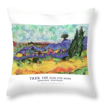 Trek 100 Poster Throw Pillow by Mykul Anjelo