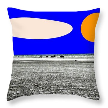 Trekking Throw Pillow by Patrick J Murphy