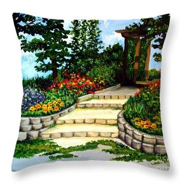 Trellace Gardens Throw Pillow
