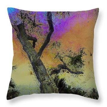 Throw Pillow featuring the photograph Trembling Tree by Lori Seaman