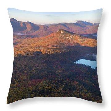 Tremont Autumn Morning Panorama Throw Pillow