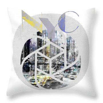 Trendy Design New York City Geometric Mix No 4 Throw Pillow