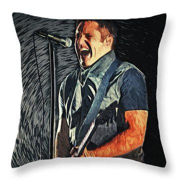 Trent Reznor Throw Pillow