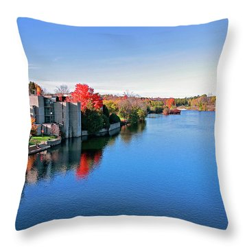Trent University Peterborough Campus Throw Pillow by Charline Xia