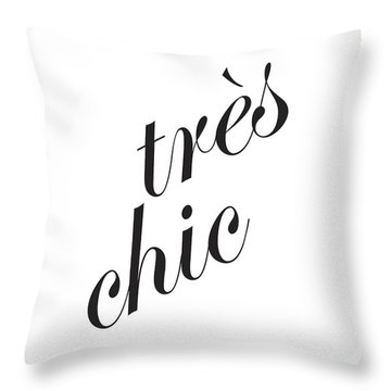 Tres Chic Throw Pillow