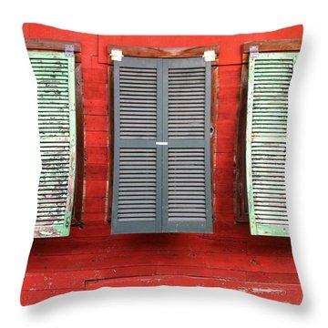 Tres Persianas Throw Pillow