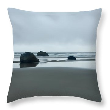 Tres Rocas Throw Pillow by Don Schwartz