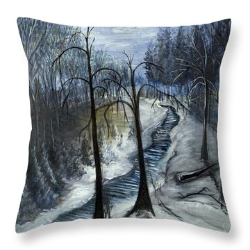 Tresa's Nite Throw Pillow
