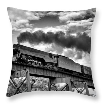 Trestle Crossing Throw Pillow by Alan Raasch