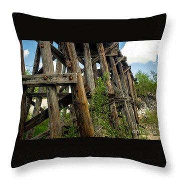 Trestle Timber Throw Pillow