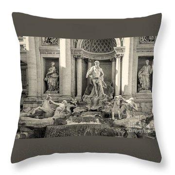 Trevi Fountain Throw Pillow