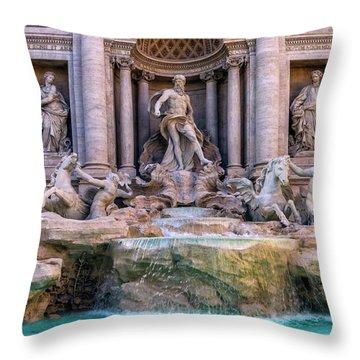 Trevi Fountain, Roma, Italy Throw Pillow