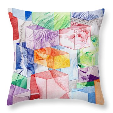 Trey Anastasio-never Get Out Of This Maze Throw Pillow by Joshua Morton