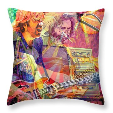 Trey Channeling Cosmic Jerry Throw Pillow