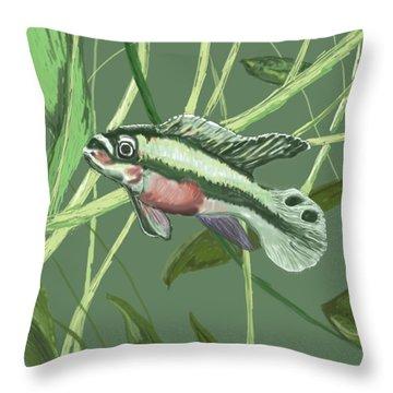 Tri Color Krib Throw Pillow
