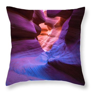 Tri-color- Lower Antelope Canyon Throw Pillow