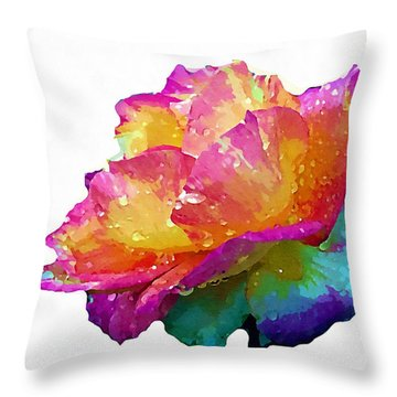Throw Pillow featuring the photograph Tri Color Rose by Joseph Frank Baraba