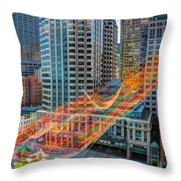 Tri Mountain Sculpture 002 Throw Pillow