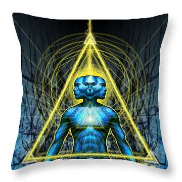 Tri Sending Throw Pillow by Tony Koehl