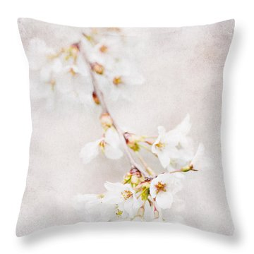 Triadelphia Cherry Blossoms Throw Pillow