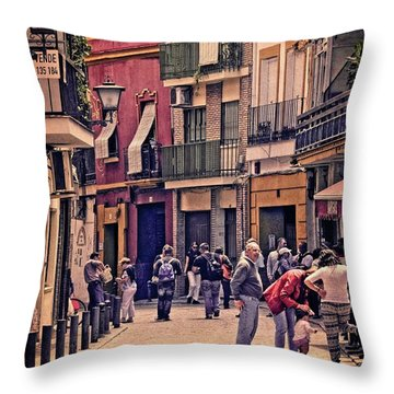 Throw Pillow featuring the photograph Triana On A Sunday Afternoon 2 by Mary Machare