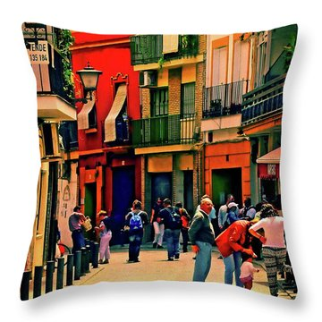 Throw Pillow featuring the photograph Triana On A Sunday Afternoon 3 by Mary Machare