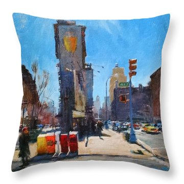 Triangle Below Bleecker Throw Pillow
