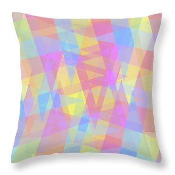 Triangle Jumble 2 Throw Pillow