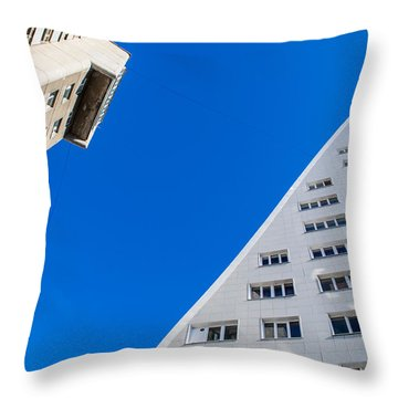 Triangle Modern Building Throw Pillow