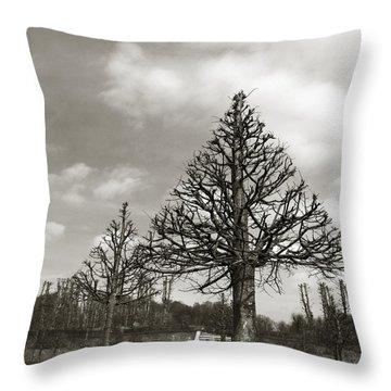 Triangle Trees Throw Pillow