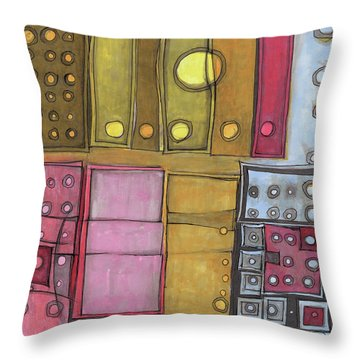 Geometric I Throw Pillow by Sandra Church
