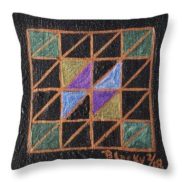 Triangulation Throw Pillow