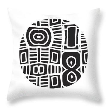 Tribal Ball- Art By Linda Woods Throw Pillow