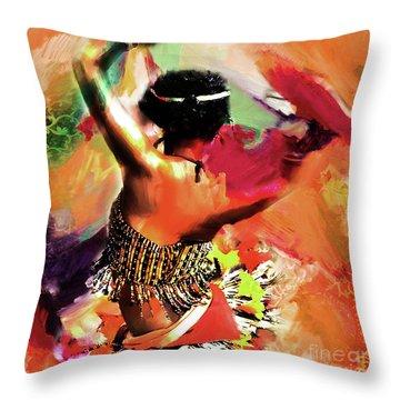Tribal Dance 0321 Throw Pillow