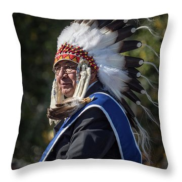 Tribal Elder Throw Pillow
