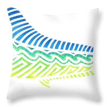 Tribal Mahi Mahi Throw Pillow