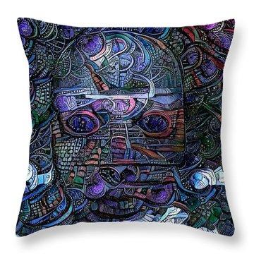 Tribal Ornamets Throw Pillow