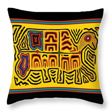 Tribal Turtle Spirit Throw Pillow
