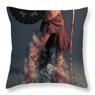 Tribal Warrior Throw Pillow