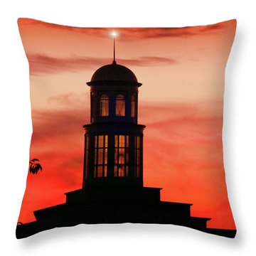 Throw Pillow featuring the photograph Trible Library Dome At Christopher Newport University by Ola Allen