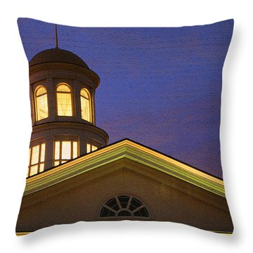 Throw Pillow featuring the photograph Trible Library Dome by Ola Allen
