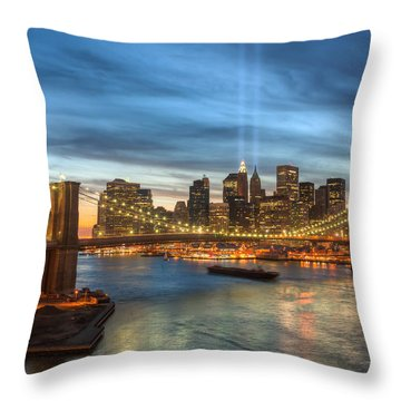 Tribute In Light I Throw Pillow by Clarence Holmes