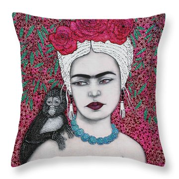 Throw Pillow featuring the mixed media Tribute by Natalie Briney