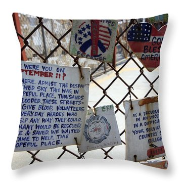Tribute Tiles Throw Pillow