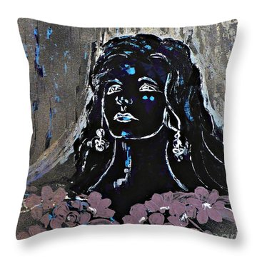 Tribute To Amalia Rodrigues Throw Pillow
