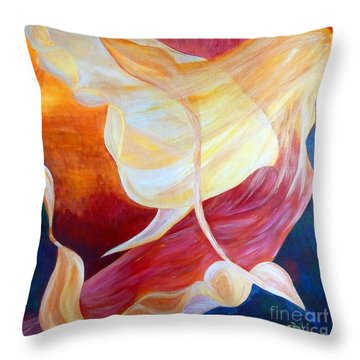 Tribute To An Angel Throw Pillow by Claire Bull