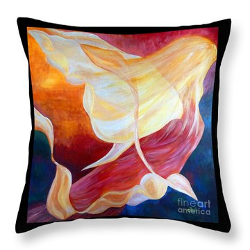 Tribute To An Angel Throw Pillow